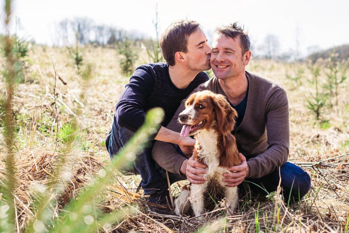 Voorbereidende huwelijksreportage in de Ardennen met Bob en Wim